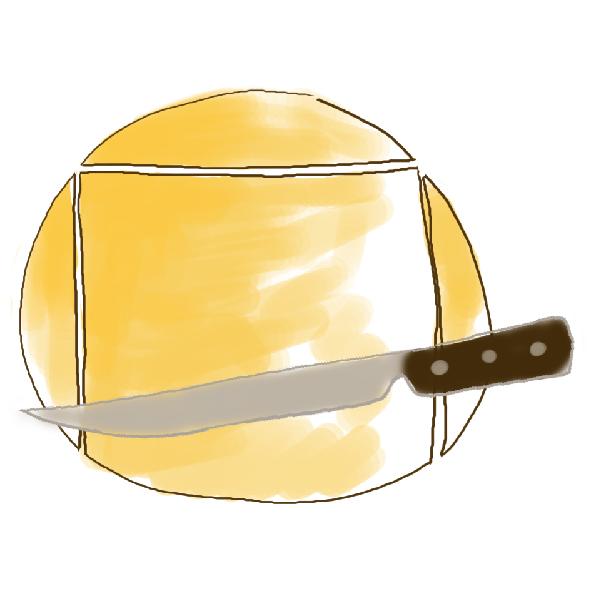 coupez la pâte feuilletée