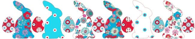 décoration de pâque lapin fleuri 2