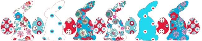 décoration de pâque lapin fleuri