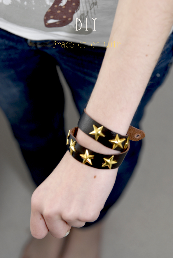 DIY bracelet en cuir leather bracelet
