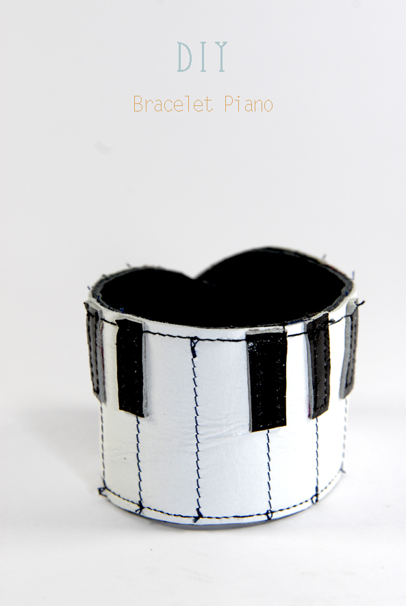 DIY bracelet piano en cuir Leather bracelet