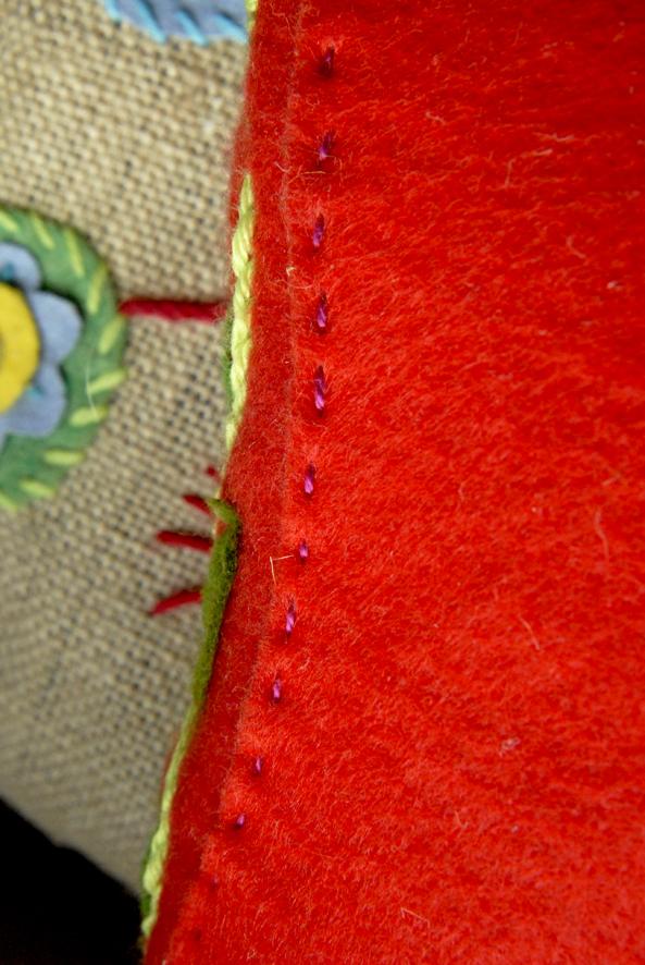 DIY chausson en feutre esprit bohème 1