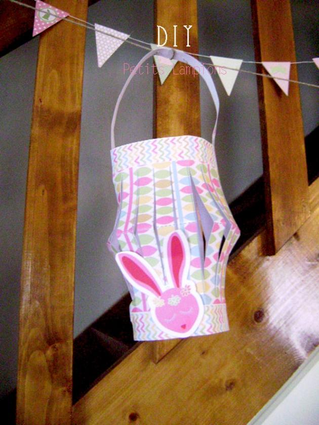 DIY décoration de pâque lampions à imprimer gratuitement 1