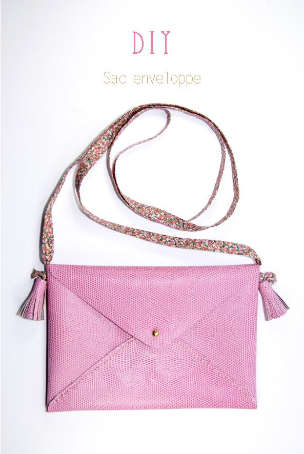 Souvent Tuto comment faire un sac enveloppe en cuir | Dans Mon Bocal CL93