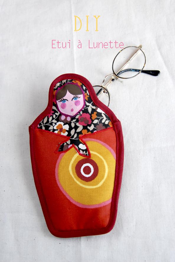 DIY etuis à lunette poupée russe