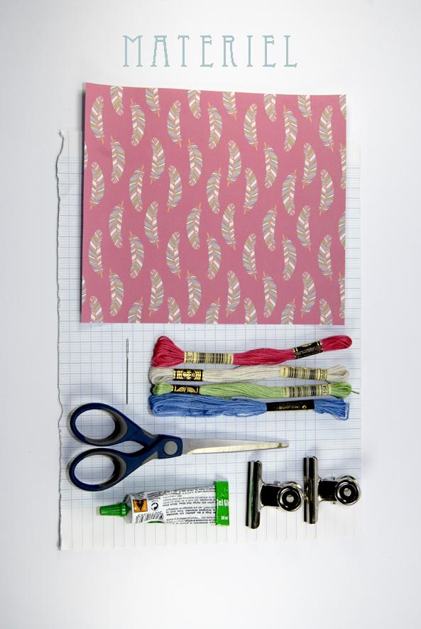DIY note book recyclé matériel