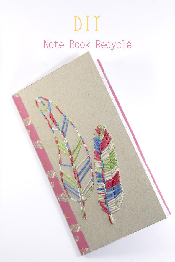 DIY note book recyclé
