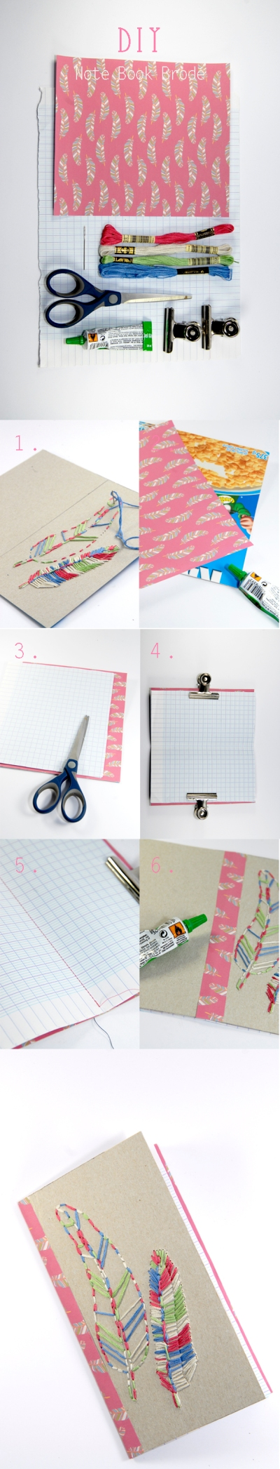 DIY note book recycle 7