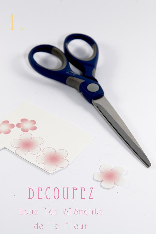 DIY paper flower fleur en papier 2
