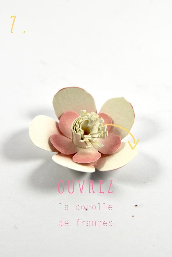 DIY paper flower fleur en papier 8