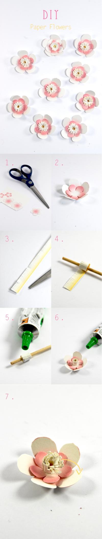 DIY paper flower fleur en papier