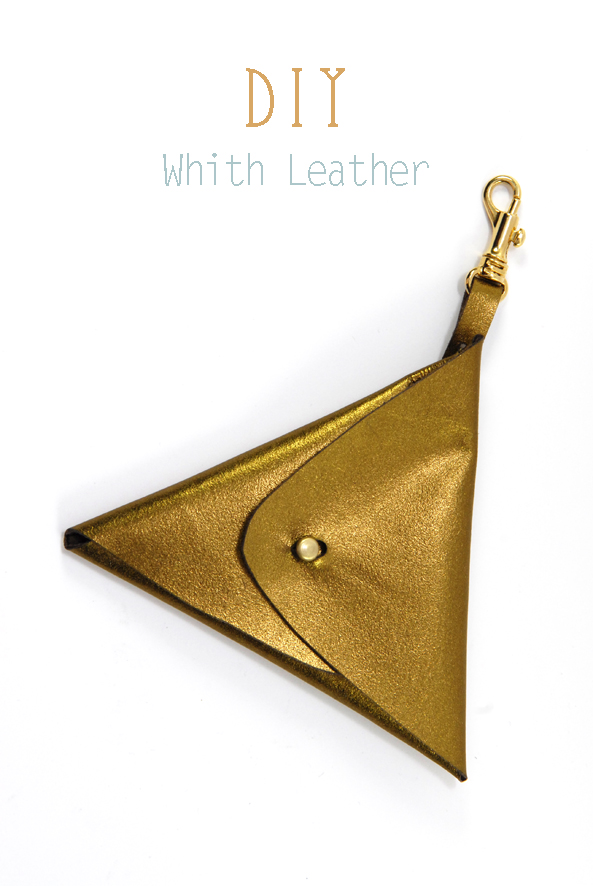 DIY triangle leather pouch 1