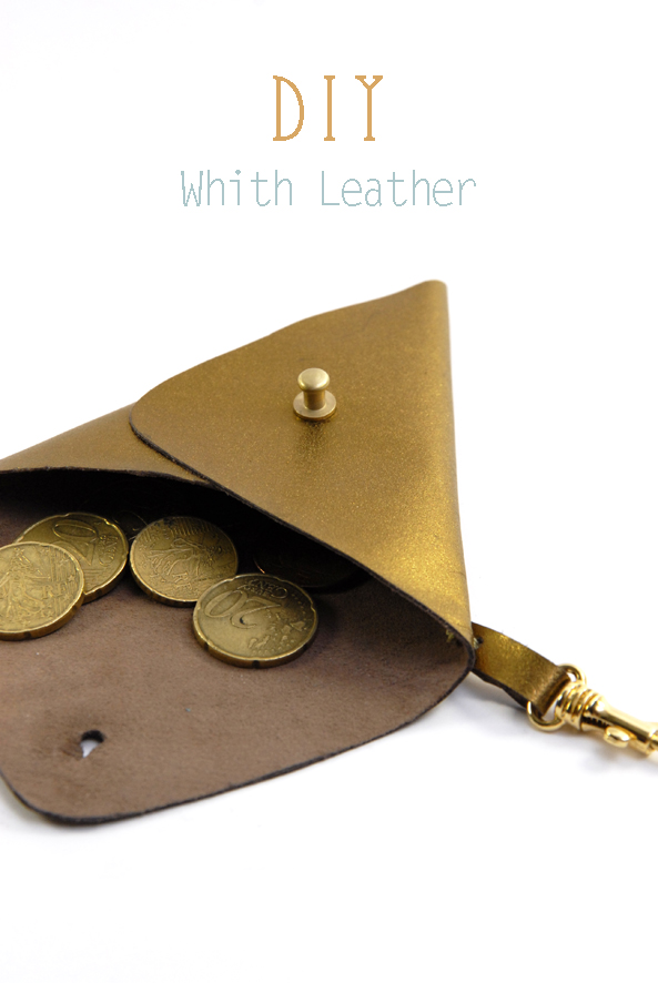 DIY triangle leather pouch 2