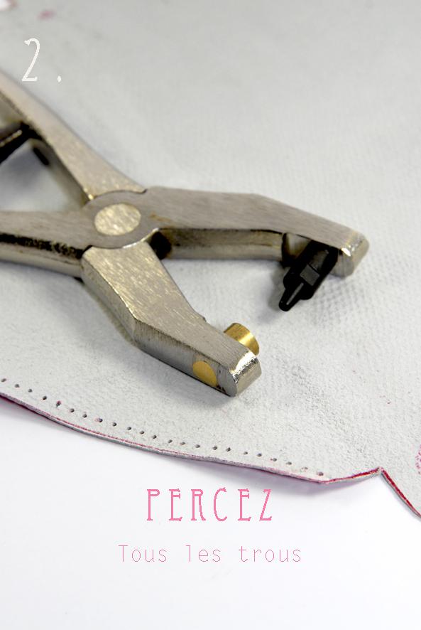 DIY tuto sac enveloppe en cuir- leather envelope bag 2