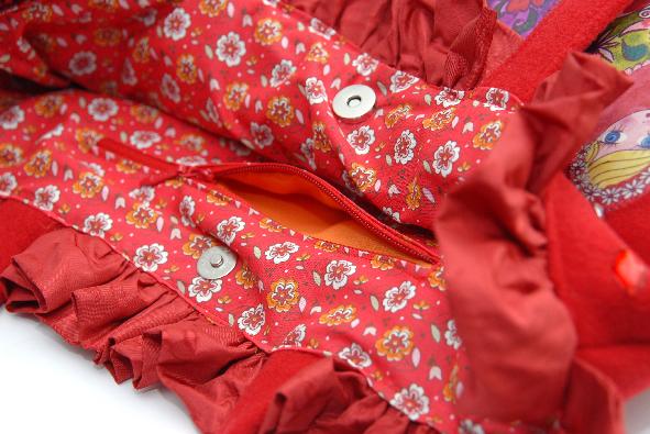 doublure sac cabas poupées russes