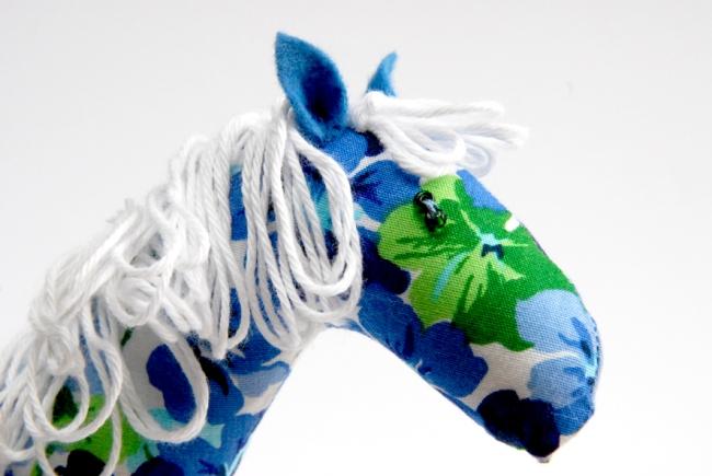 doudou cheval fleur tete 1