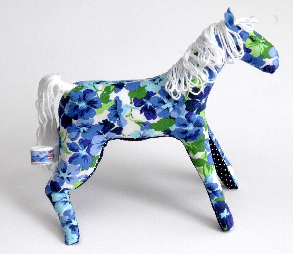 doudou cheval fleur