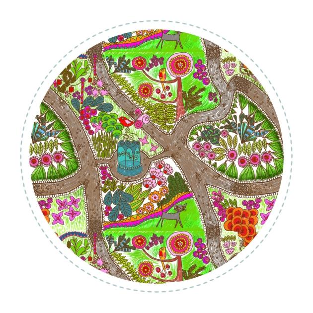 echatillon tissu jardin extraordinaire