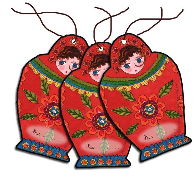etiquette poupée russe présentation
