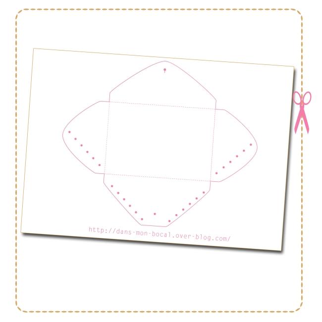 free pattern Diy enveloppe pouch