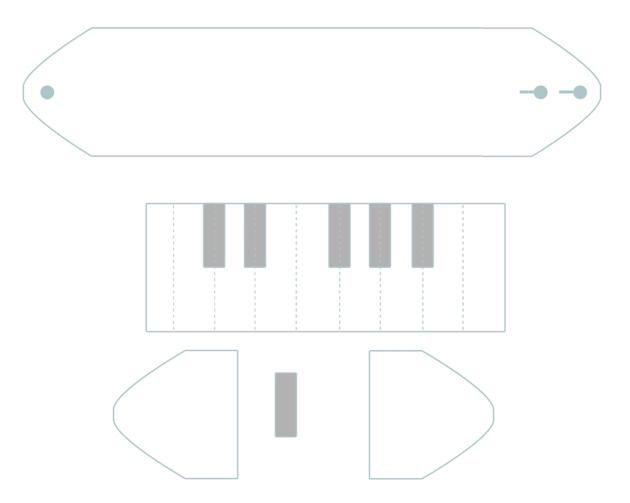 free pattern piano bracelet patron gratuit
