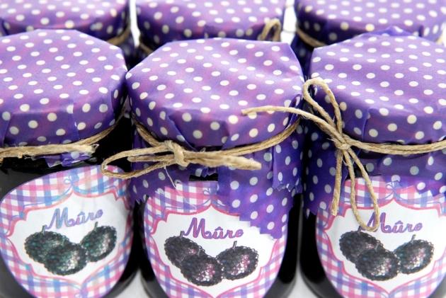free pintable label jam-confiture de mure maison