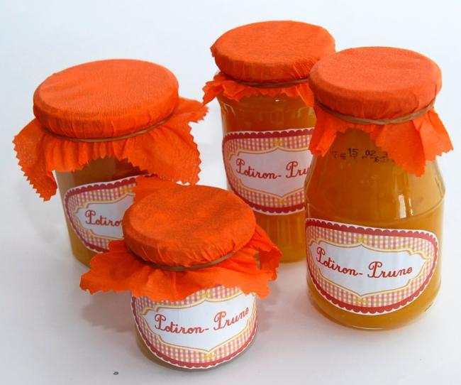 free pintable label jam-confiture de potiron prune maison 1