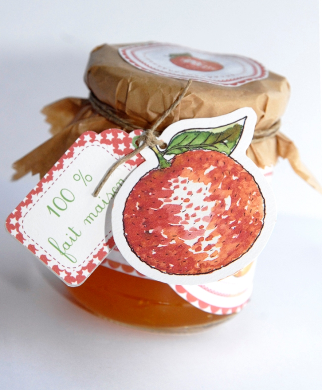 free pintable label jam-confiture d'orange maison 4