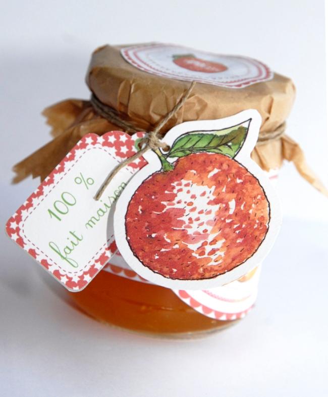 free pintable label jam-confiture d'orange maison 4