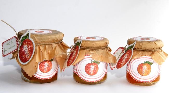 free pintable label jam-confiture d'orange maison 5