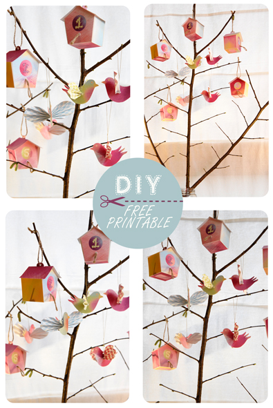 free printable advent calendar nichoir boite 12