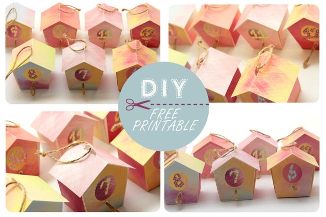 free printable advent calendar nichoir boite 17