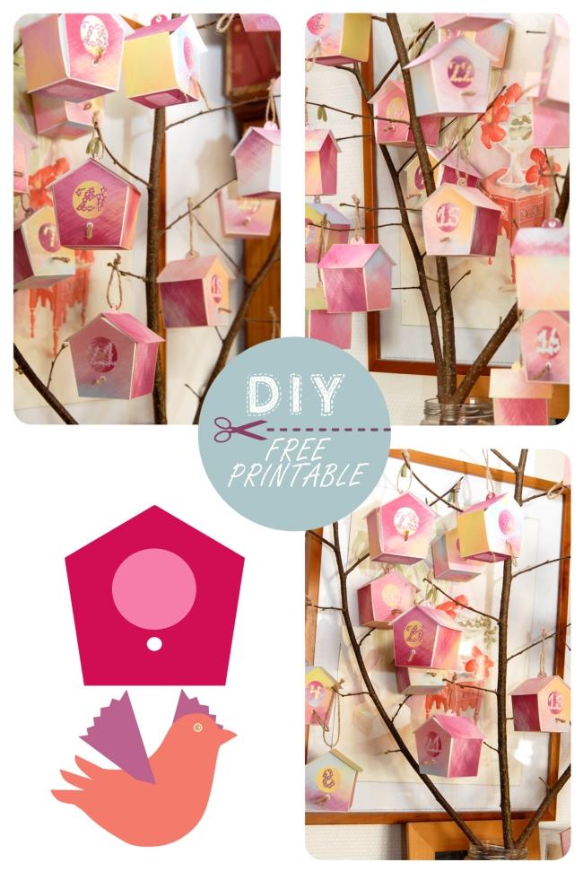 free printable advent calendar nichoir boite 33
