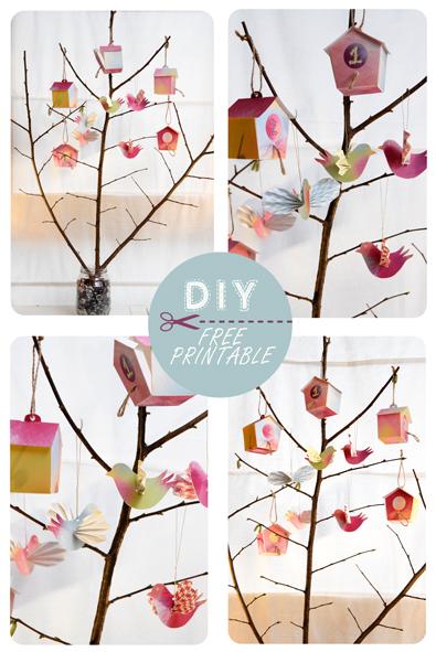 free printable advent calendar nichoir boite 8
