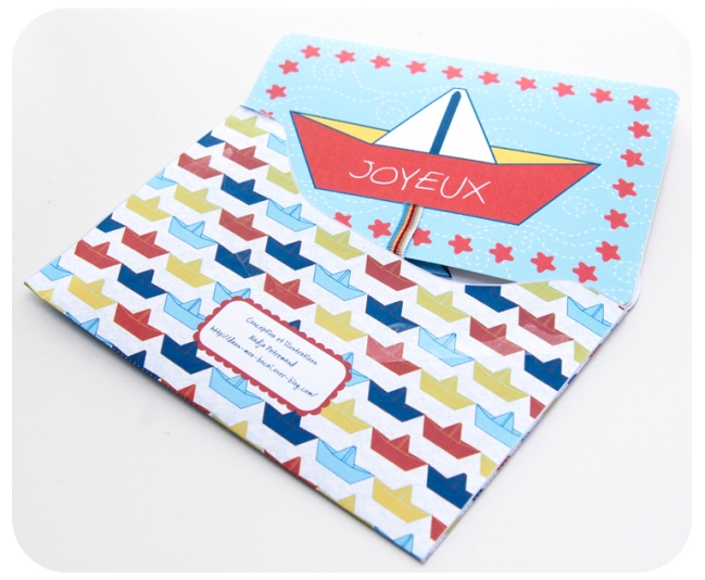 free printable birthday card carte anniv bateau 2