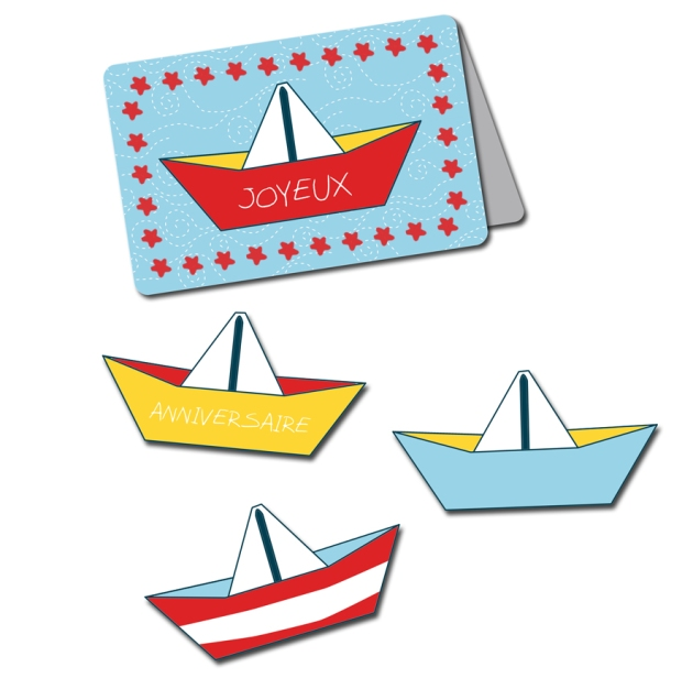 free printable birthday card carte anniv bateau