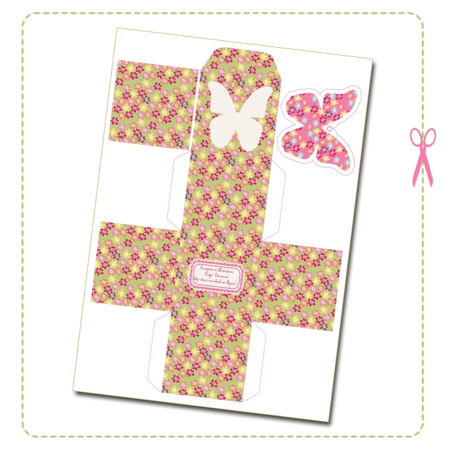 free printable butterfly box