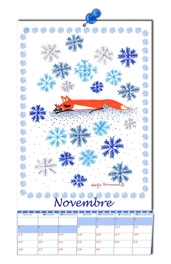 free printable calendar 2012-calendrier 2012 2013 à imprimer gratuitement novembre illustrationf