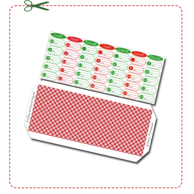 free printable calendar date decembre 2014
