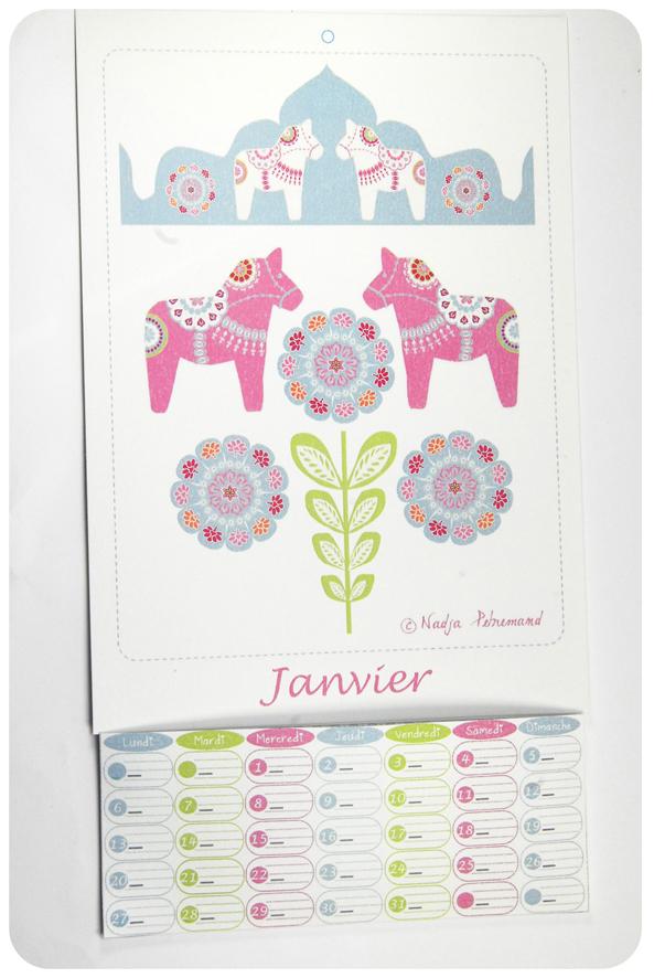 free printable calendar janvier 3