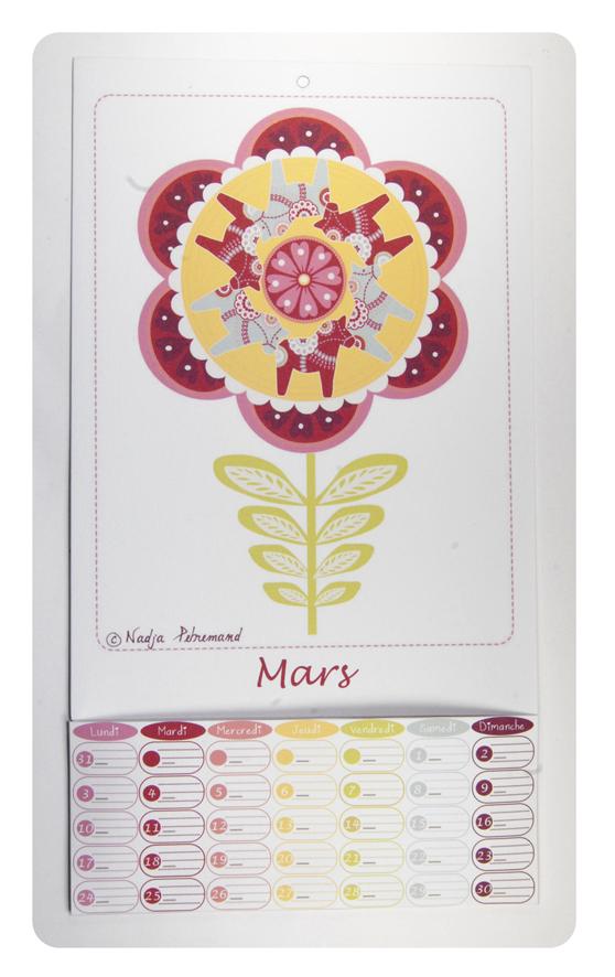 free printable calendar mars 1