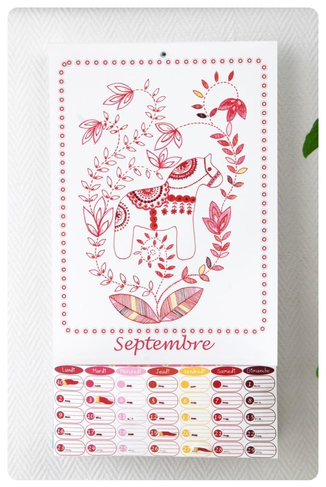 free printable calendar septembre 3
