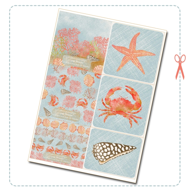 free printable card coral reef