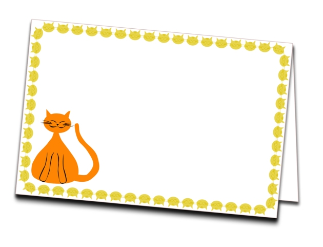 free printable card gratuit carte chat visuel