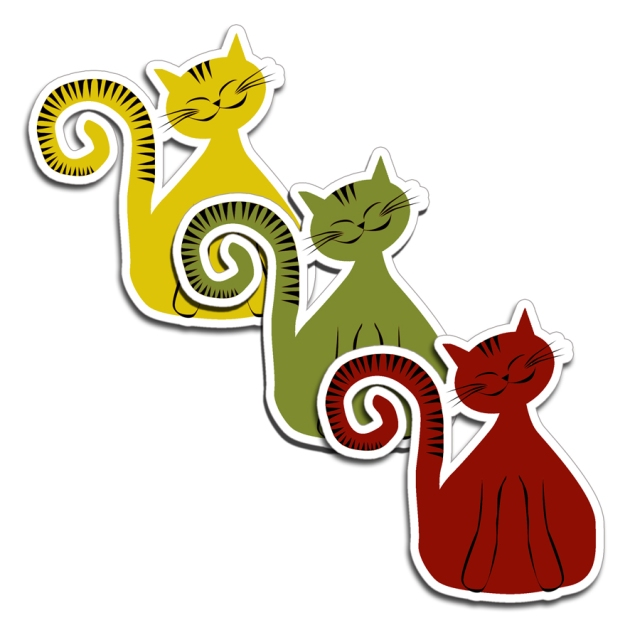 free printable cat's mobile 2