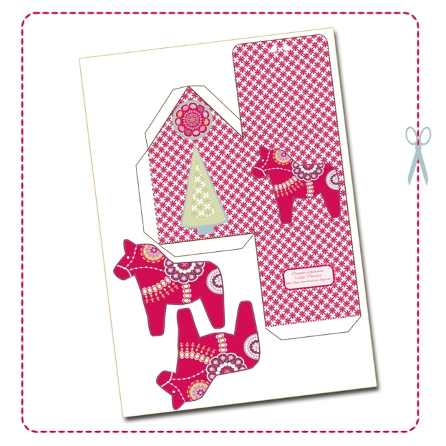 free printable christmas house box 2