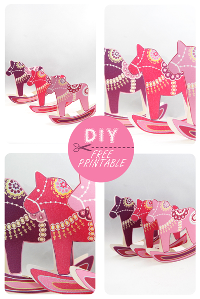 free printable christmas ornement dala horse 7