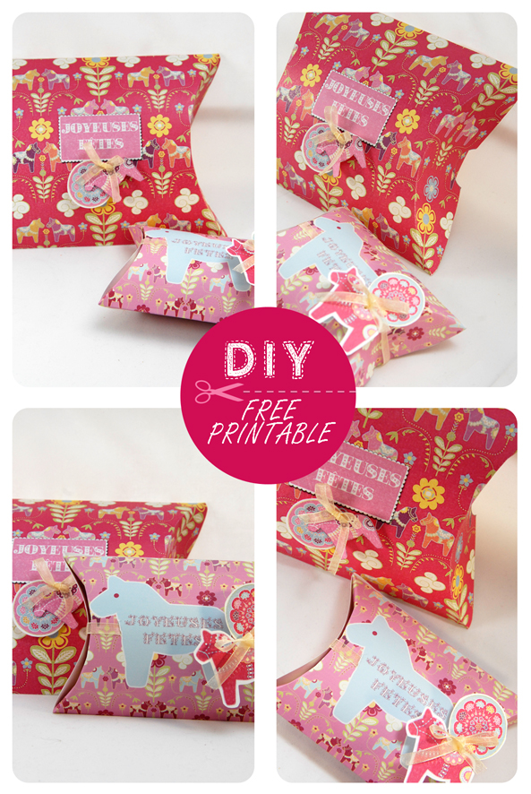 free printable christmas pilow box 7