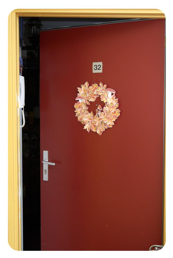 free printable Door Coronet gratuit couronne de porte automne 5