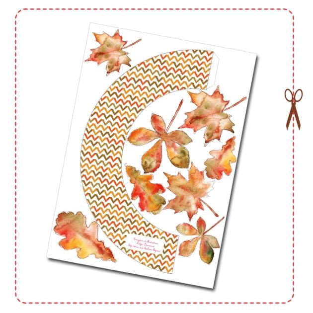 free printable Door Coronet gratuit couronne de porte automne 7
